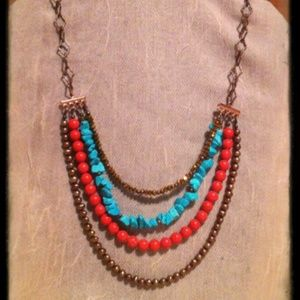 Handcrafted Four Strand Necklace